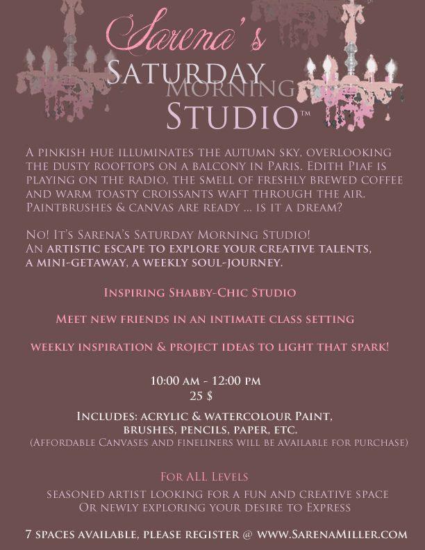Sarena's Saturday Morning Studio